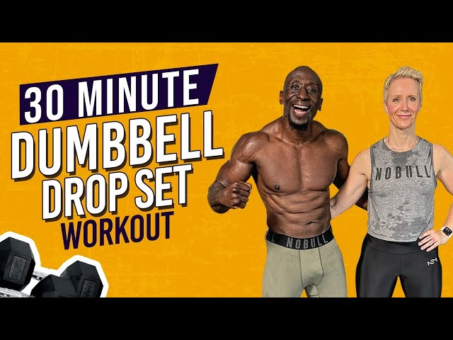 30 Min TOTAL BODY Dumbbell Drop Set Home Workout | MUSCLE BUILDING | FAT LOSS
