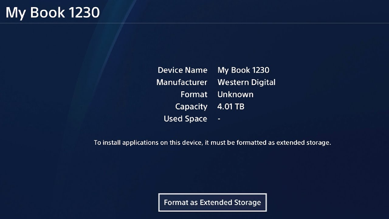 How To: Set Up and Format a External Harddrive to #PS4 / # ...