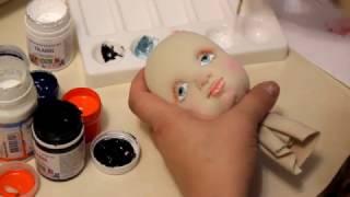 Мастер класс. Текстильно скульптурная кукла. Урок 2. Раскраска лица