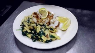 Baked Cod with Cavatelli and Green Ali Olio