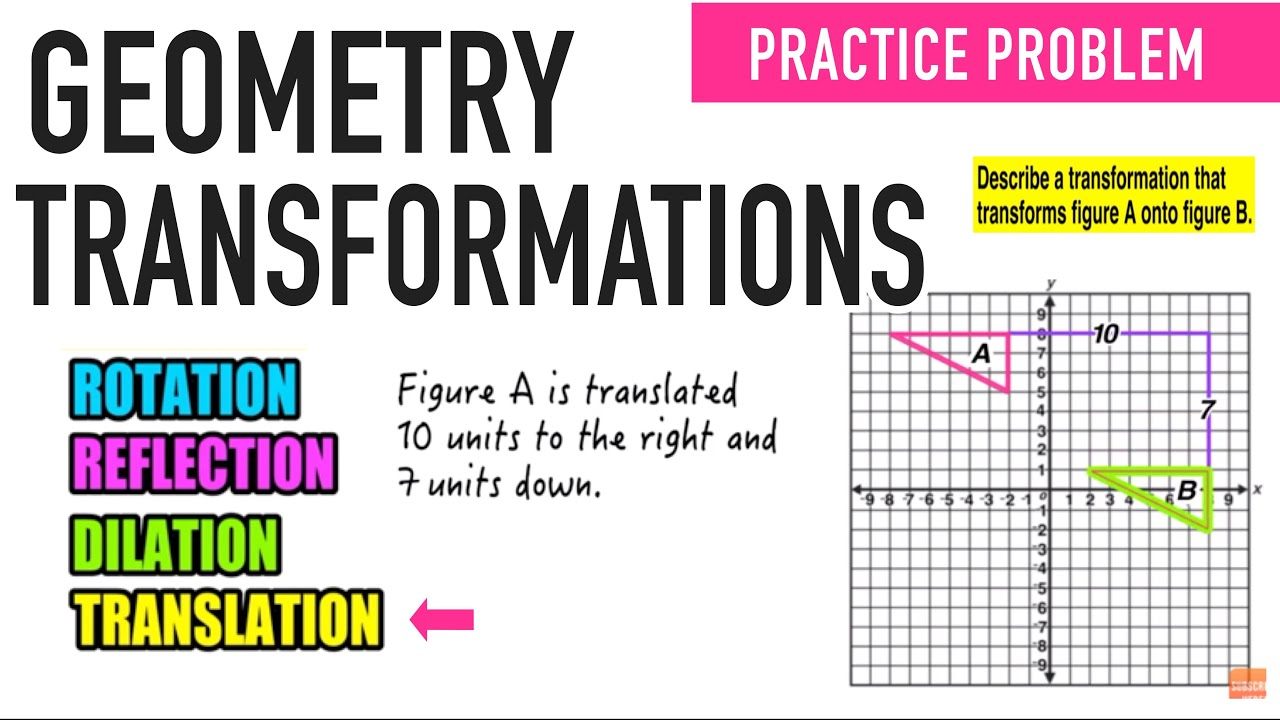 worksheet Transformations Geometry Worksheet how do i translate a figure 8th grade geometry transformations youtube