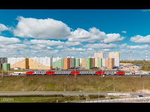 Сдвоенный электропоезд ЭД9М сообщением Шахунья - Урень - Нижний Новгород