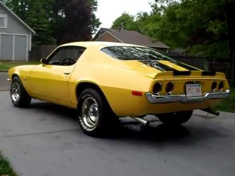 1972 Camaro Ss Rs Walk Around And Idle At The End Youtube