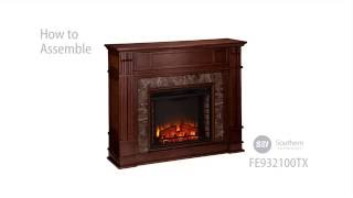 FE9321: Highgate Faux Stone Electric Media Fireplace - Whiskey Maple Assembly Video