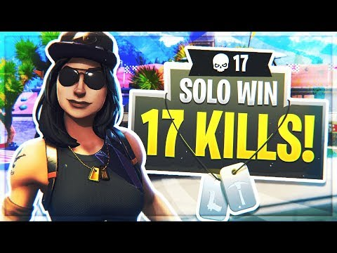 AMAZING 17 KILL GAME ON SOLOS USING BUILDER PRO!! *NEW* SKIN Fortune Gameplay!