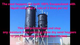 Melbourne Liquid Rubber Waterproofing of Steel Hoppers full Encapsulation from AWC