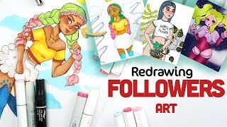 DRAWING YOUR ART IN MY STYLE | Instagram Art in my STYLE