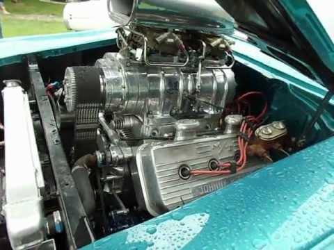 Mustang Vs Camaro >> 1957 Chevy with blown 392 HEMI - YouTube