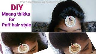 Bollywood Style Maang tikka Perfect for Puff Hair style..!