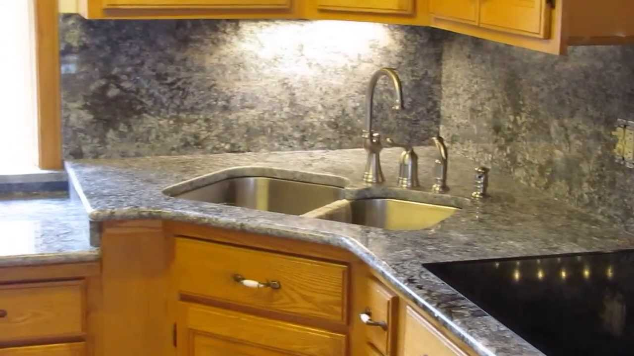 Made In Maine Azul Aran Beautiful Granite Counter