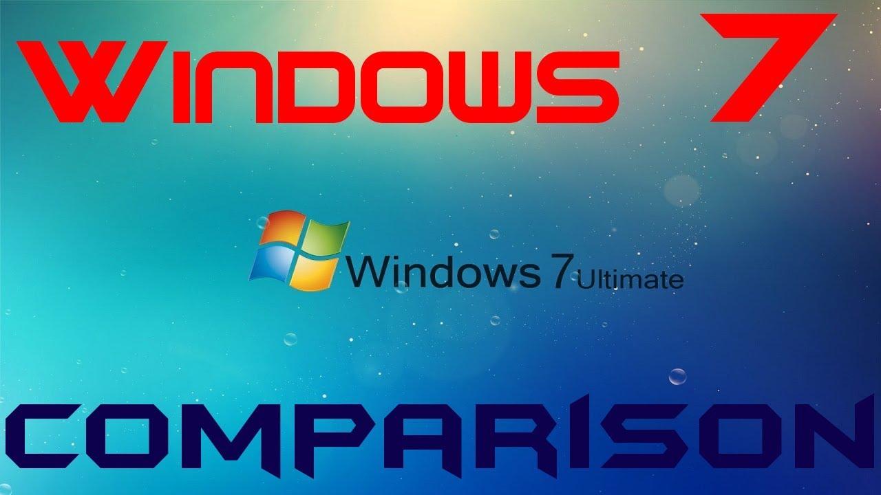 windows 7 ultimate vs professional comparison