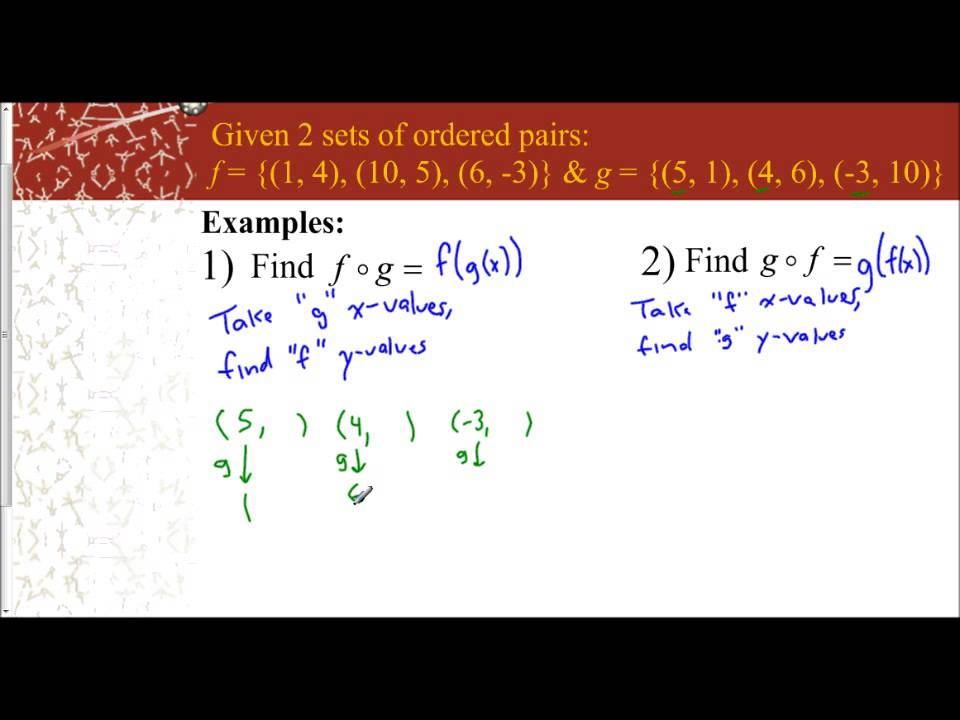 Lesson 7.1 - Compostition of Functions (Sets of Ordered Pairs ...