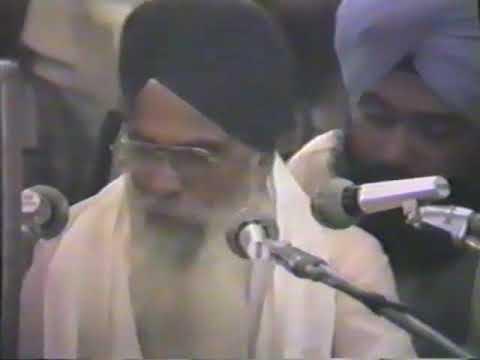 Bhai Sahib and Bhai Mehar Singh Ji - AKJ 1985 Delhi Smagam
