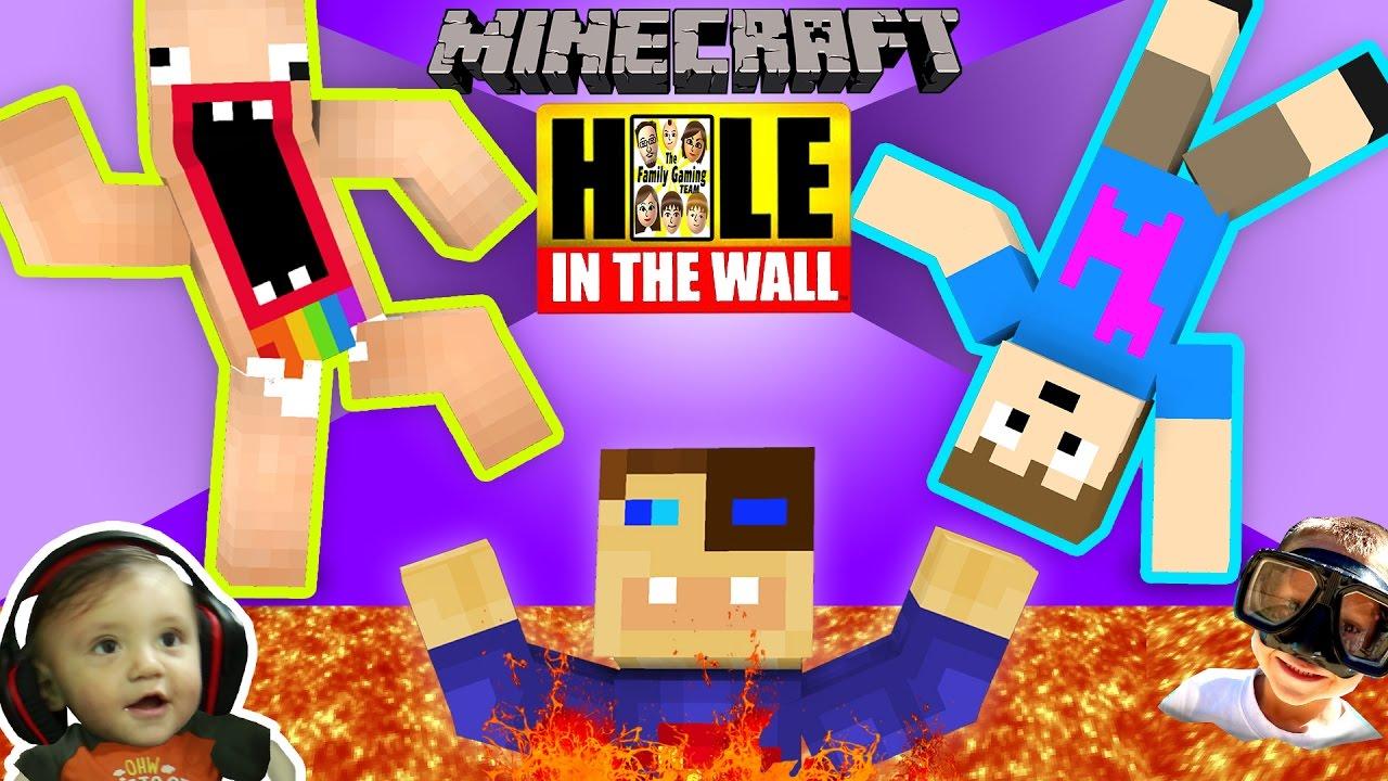 Minecraft Hole In The Wall Mini Game W Fgteev Shawn Duddy Chase Super Challenge