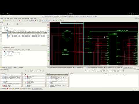 Spartan 6 LVDS laptop screen using OSERDES2 IOB primitives