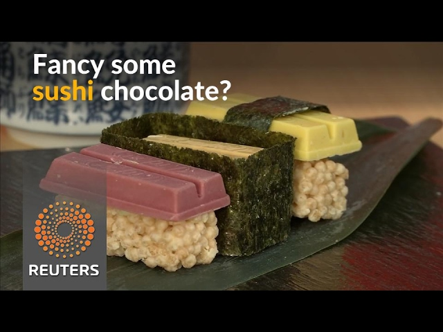Chocolate sushi on offer in Japan for Valentine's Day