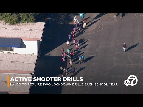 SCHOOL SAFETY: LAUSD to require at least 2 school lockdown drills each year | ABC7