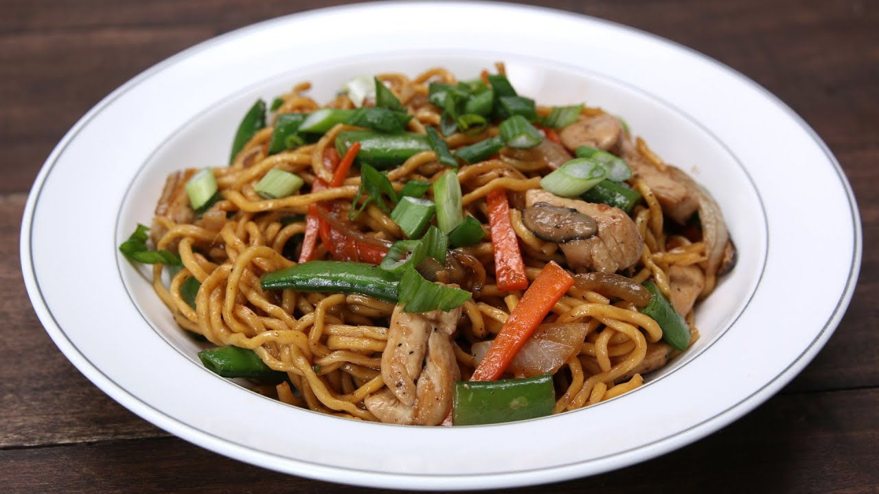 Chicken Lo Mein - YouTube
