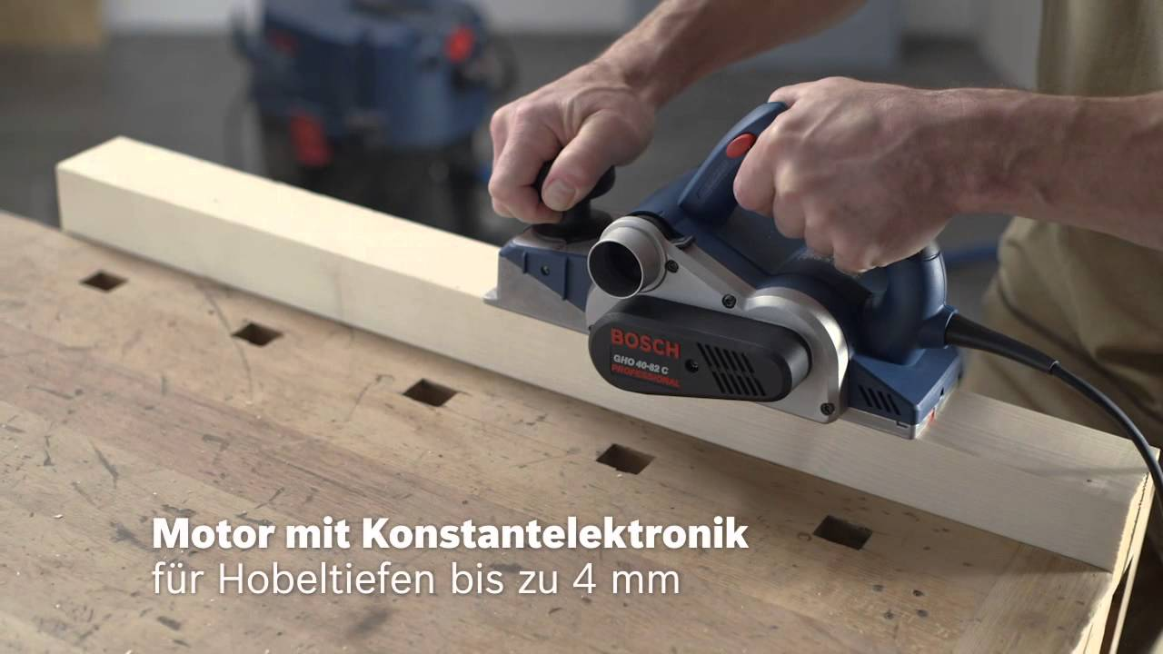 bosch elektrohobel gho 40-82 c professional - youtube