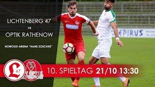 10. Spieltag 2017/18 - 0:2 (0:2) Lichtenberg 47 - FSV Optik Rathenow