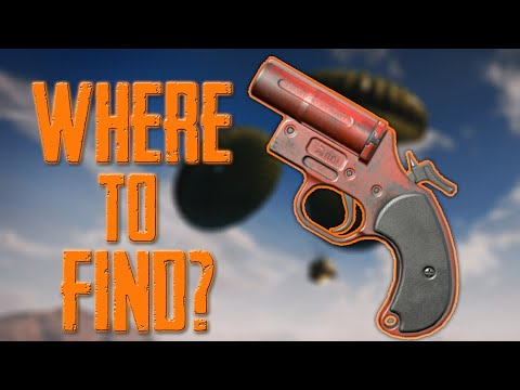 🔥WHERE TO FIND FLARE GUN ?💯 BEST PLACES TO GET FLARE GUN, PUBG MOBILE
