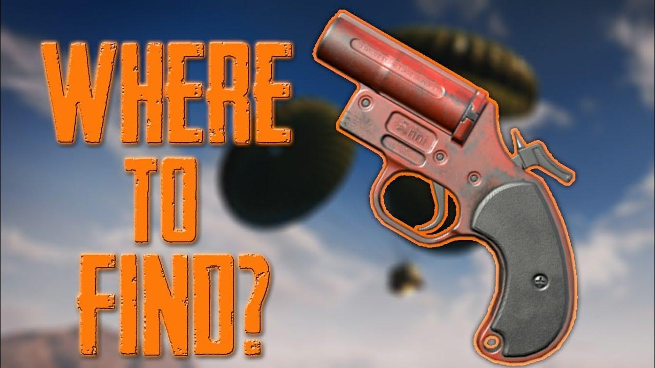 Pubg Wallpaper Flare Gun: WHERE TO FIND FLARE GUN ?💯 BEST PLACES TO GET FLARE GUN