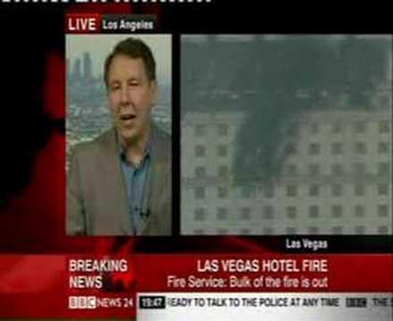 Las Vegas Hotel Fire - Monte Carlo Hotel