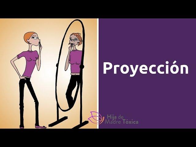La proyección. La persona narcisista le habla a un espejo