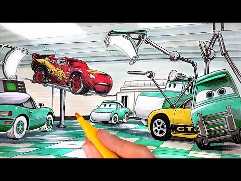 Draw Cars 3 Lightning Mcqueen Having Surgery At The Hospital After