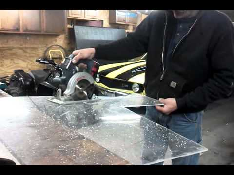 How To Cut Plexiglass 1 4 Quot Thick Youtube