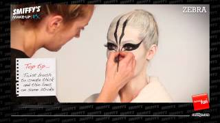 Zebra Face Painting Make-up Tutorial Thumbnail