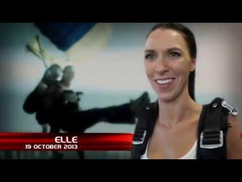 Elle Glover first jump in Dubai - Oct '13