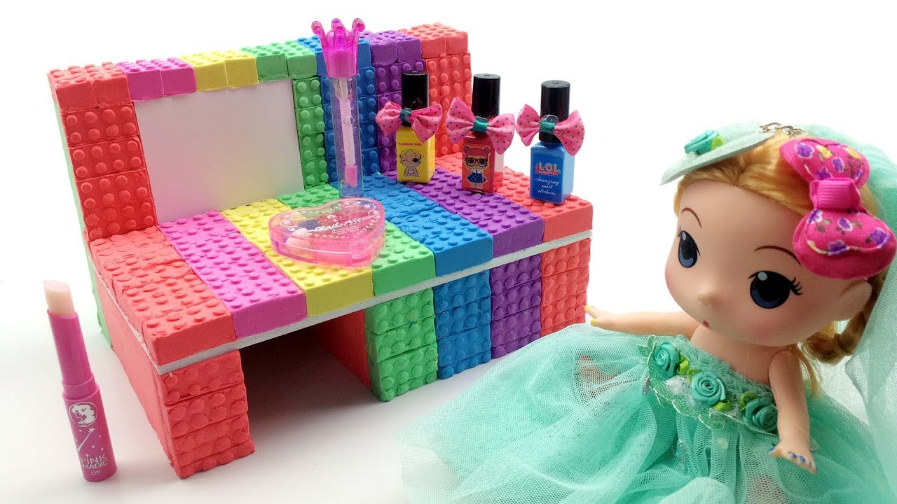 Learn Colors Kinetic Sand Makeup Table Princess VS Nail Polishes Surprises  Toys Creative For Kids