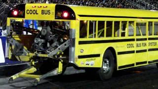 Wheel Standing School Bus