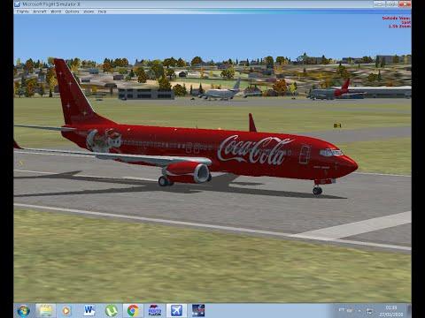 Boeing 737-800 Coca Cola (Flight Simulator X- FSX)