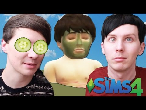 DIL HAS A SPA DAY - Dan and Phil Play: Sims 4 #27