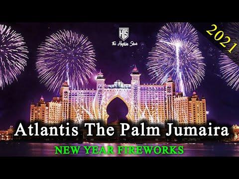 Best New Year Fireworks 2021 in Dubai |  | Palm Jumeirah Hotel Celebrations | Dubai Atishbazi 2021