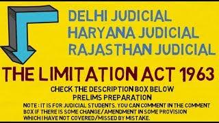 Full LIMITATION ACT for JUDICIARY Preliminary Exam