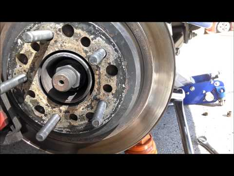 Corvette remove and replace rear shock c5 c6 by froggy