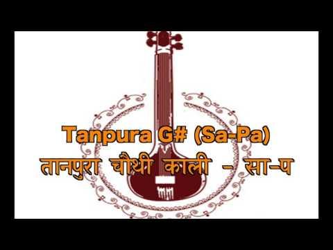 रियाज़ सीरीज़ - Tanpura G# S P तानपूरा चौथी काली   सा प(For ladies and children)