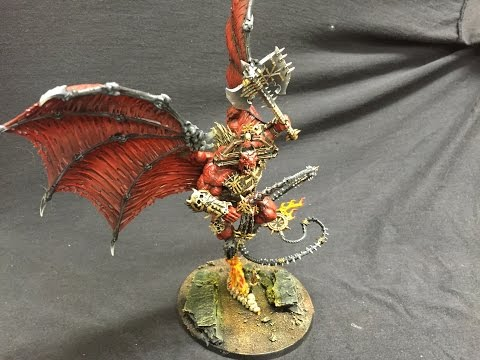How To Paint And Base A Bloodthirster From Warhammer