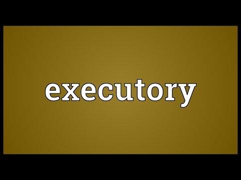 Header of executory