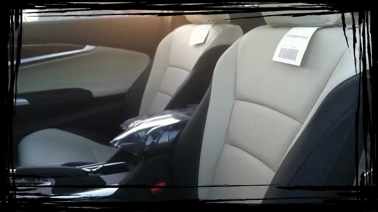 Jason@Valley Honda Presents: 2013 Accord Cpe Two Tone Leather Black With Ivory  Interior   YouTube