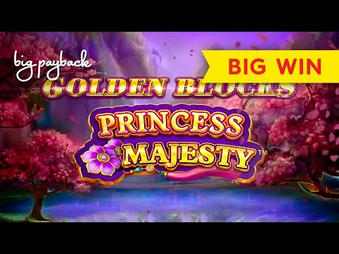 Golden Blocks Princess Majesty Slot - BIG WIN BONUS! - 동영상