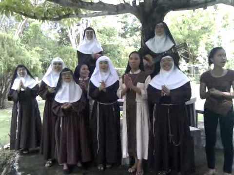Birthday song from poor Clare Sisters in Siquijor