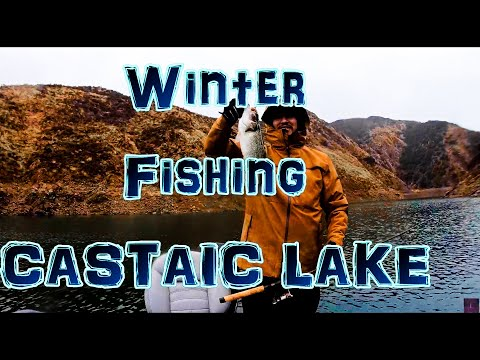 Winter Fishing at Castaic Lake // we caught a monster large mouth bass at 23 inches