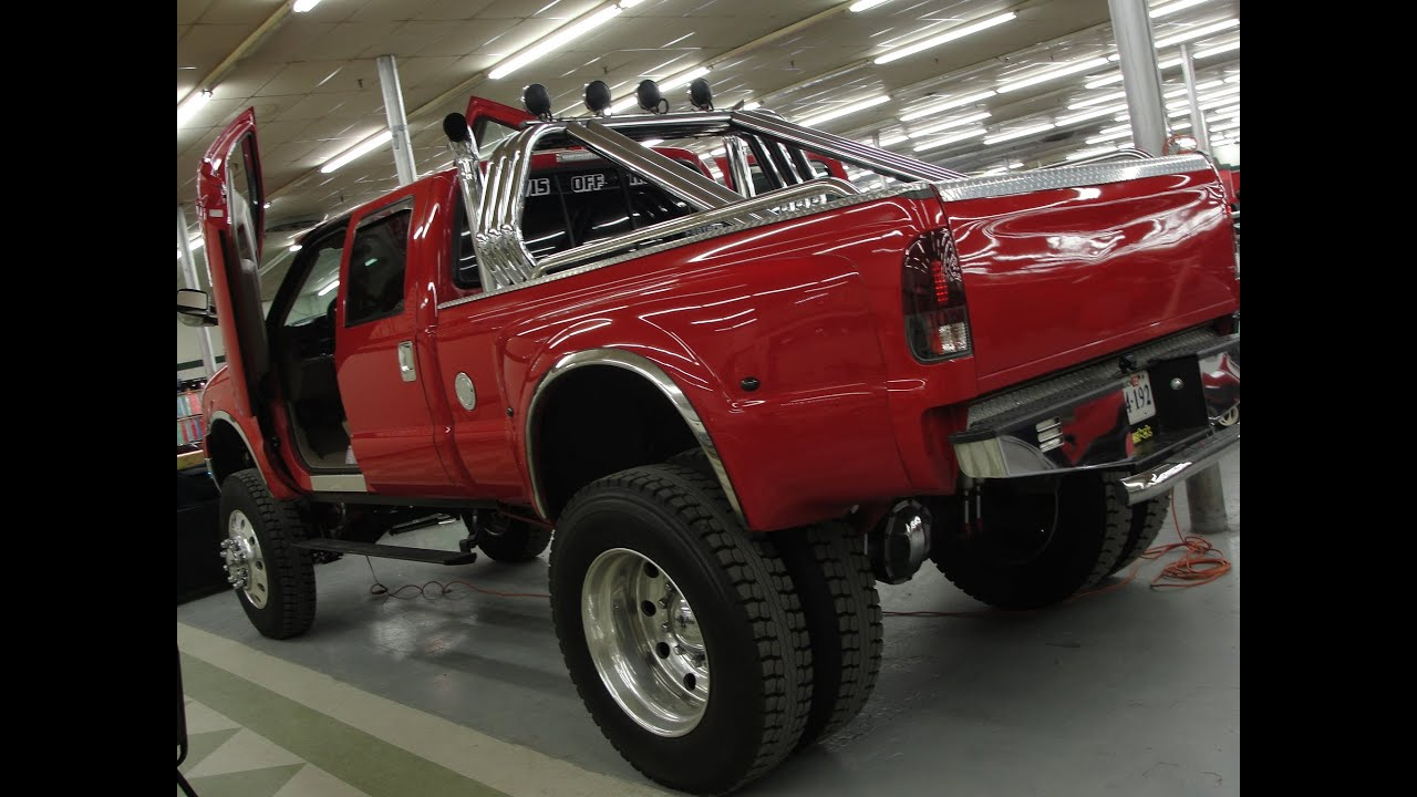 hight resolution of ford f 350 4x4 dually nasty power stroke diesel lambo doors semi wheels tires youtube