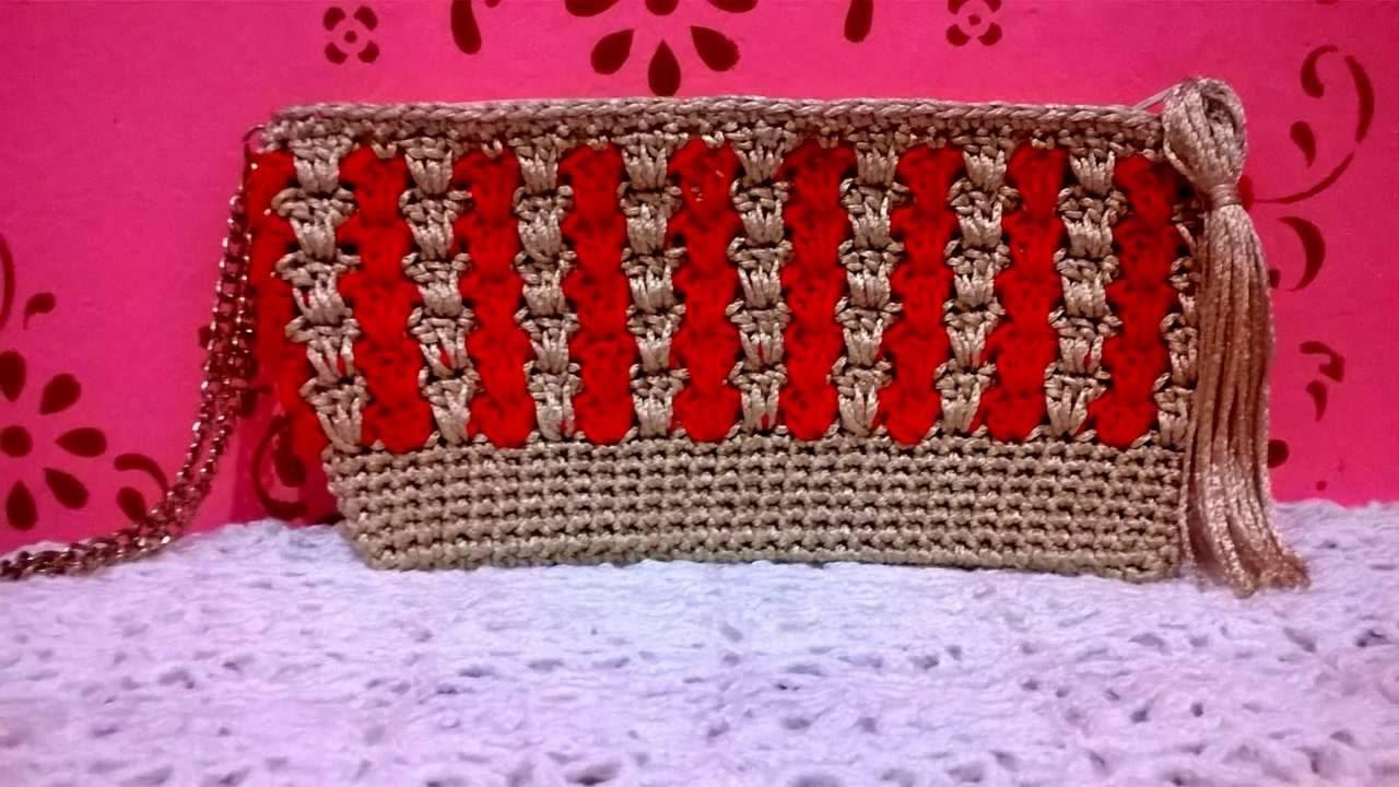 Bolsa De Festa Clutch : Bolsa clutch encanto em croch?