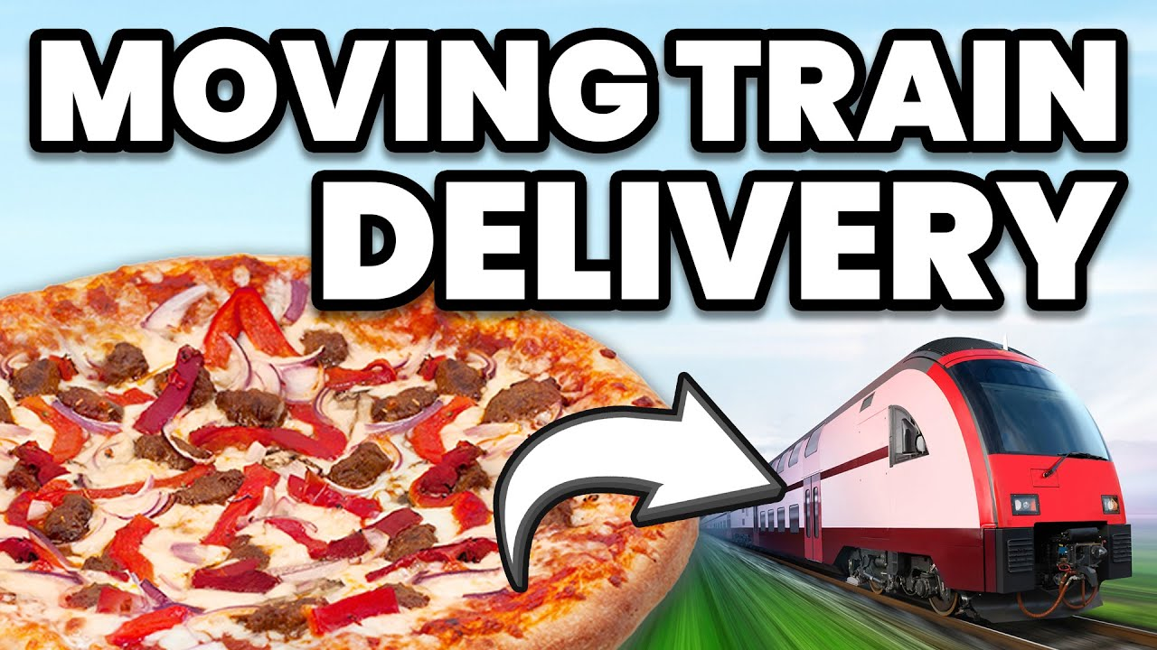 Man Dares Domino's to Deliver Pizza on Moving Train. Here's How They Did It.