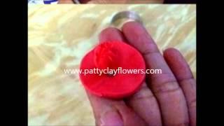 How to make Clay Flower Carnation tutorial / Polymer Clay / Sugar Craft / Cake Decoration DIY